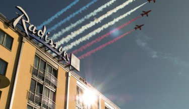 RAF Red Arrows at the Radisson Blu Waterfront Hotel